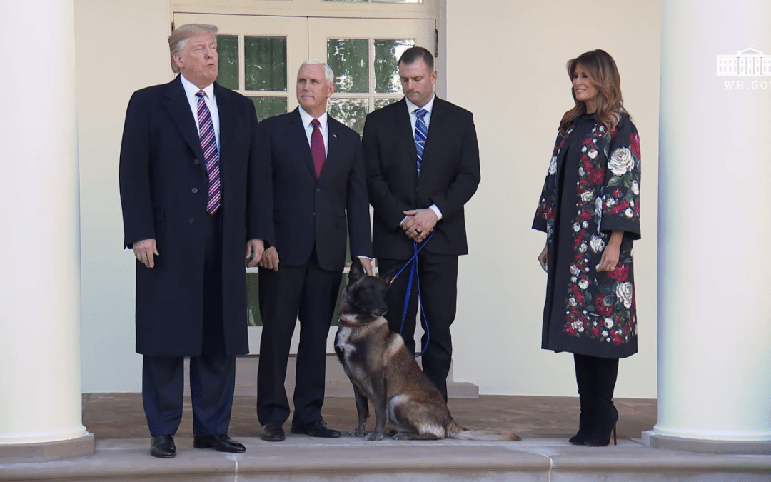 President meets K9 hero: 'Conan is a tough cookie … I love this dog'