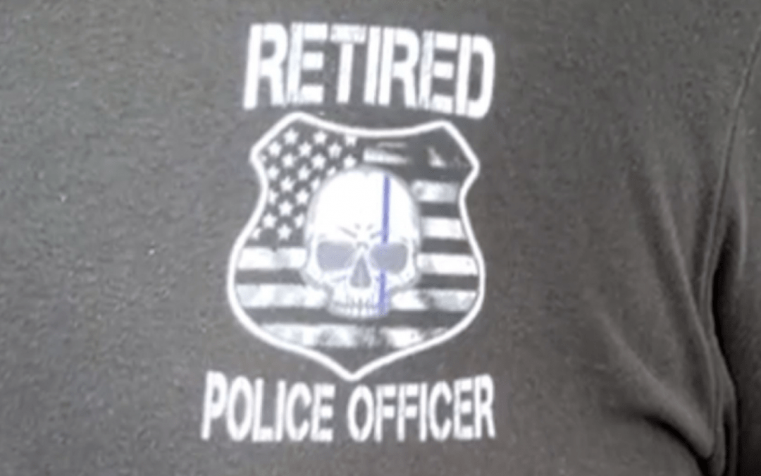 Retired police officer hassled trying to get into Universal Studios wearing 'law enforcement' t-shirt