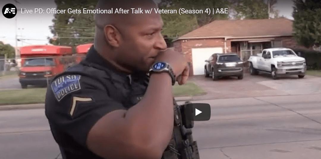 Tulsa Officer Gets Emotional Talking To Veteran About Drug Use