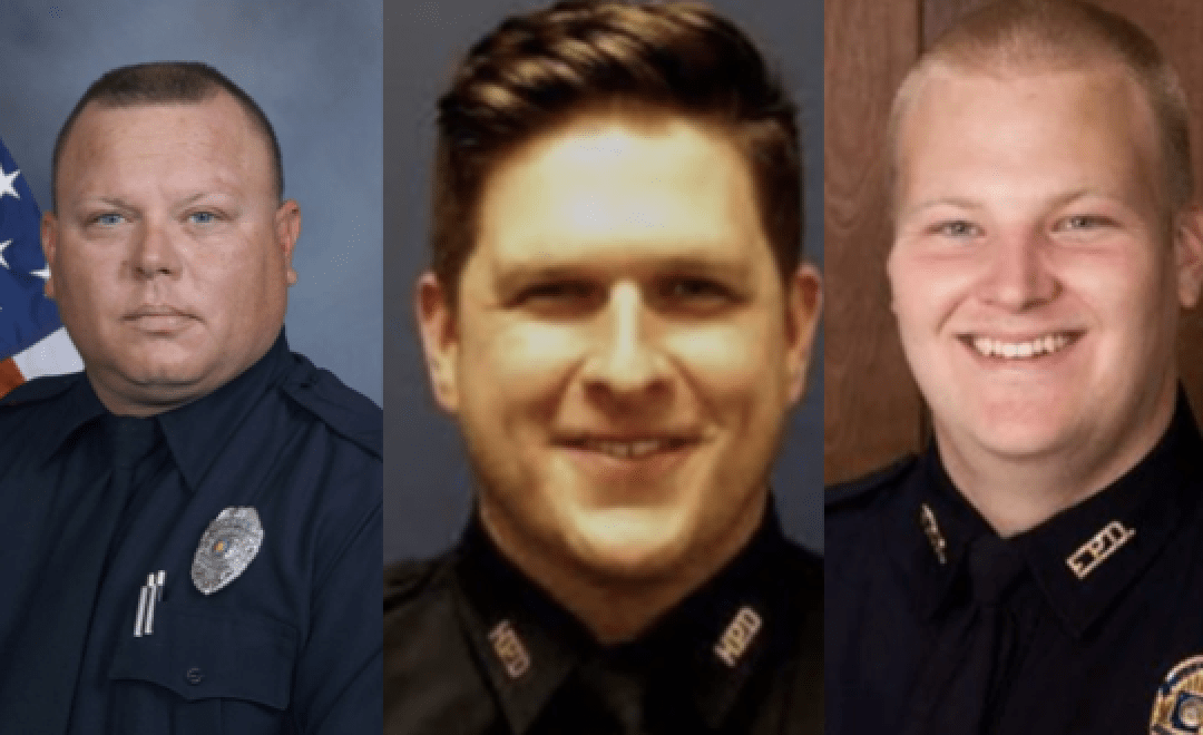 Honoring three officers who were murdered in less than two days
