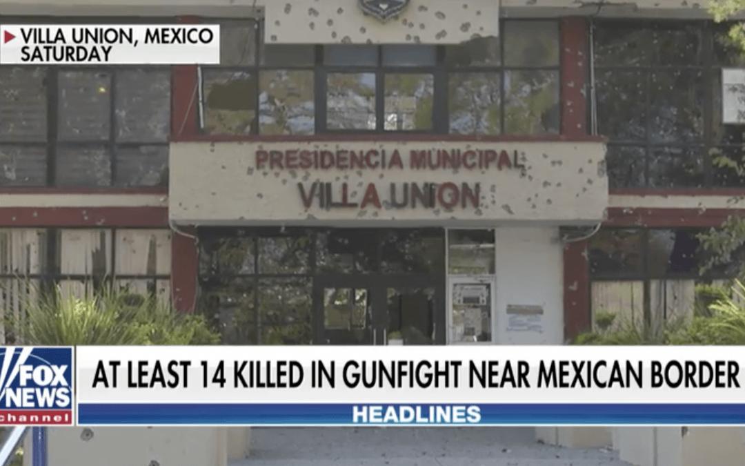 Gunbattle in Mexico near Texas border between suspected cartel members, police leaves at least 21 dead